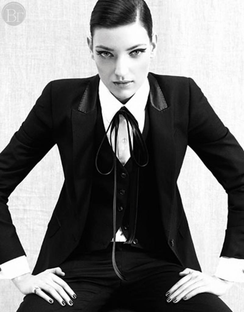 Masculine style in womens wardrobe