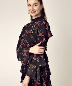 Платье с воланами – новый романтизм
