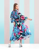Платье макси с ярким принтом: 018.04.2018 Цена: 10200 руб.